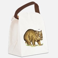 Wombat Animal Canvas Lunch Bag