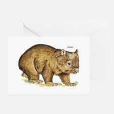 Wombat Animal Greeting Card