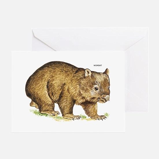 Wombat Animal Greeting Card