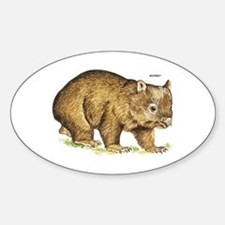 Wombat Animal Sticker (Oval)