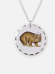 Wombat Animal Necklace