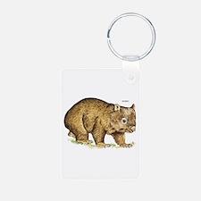 Wombat Animal Keychains