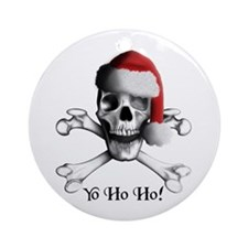 Christmas Pirate Ornament (Round)