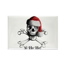 Christmas Pirate Rectangle Magnet