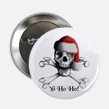 Christmas Pirate Button