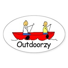 Outdoorzy Oval Decal