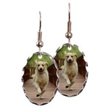 Running Golden Retriever Earring
