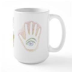 Rainbow Petro EyeHand Large Mug
