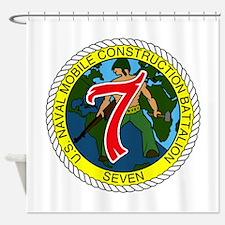 USNMCB 7 Shower Curtain