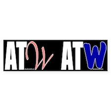 ATW shared bumper sticker (black)