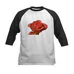 Coral Beauty Rose Kids Baseball Jersey
