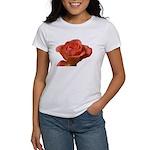 Coral Beauty Rose Women's T-Shirt