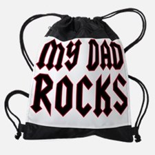 mydadrocksCP.png Drawstring Bag