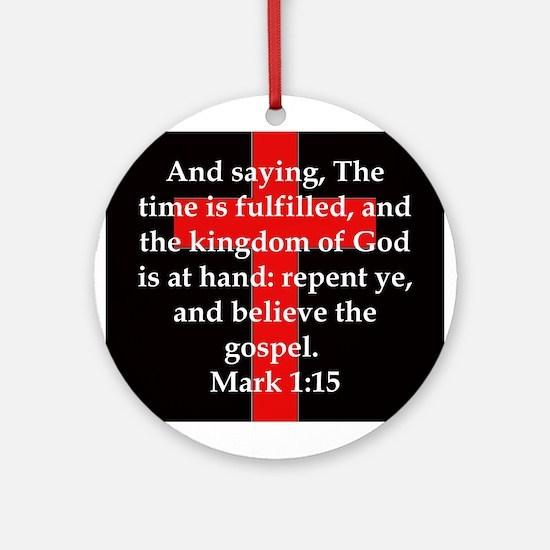 Mark 1-15 Round Ornament