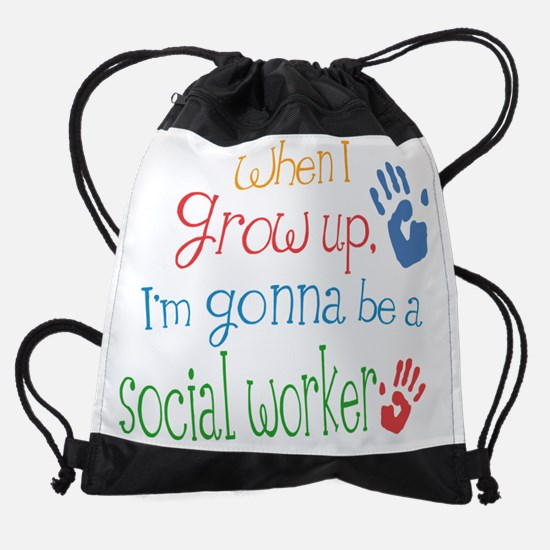 social_worker_future_color.png Drawstring Bag