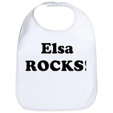 Elsa Rocks! Bib