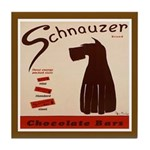 Chocolate Schnauzer Vintage Dog Tile Coaster