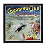 Greyhound Coursing Vintage Tile Coaster