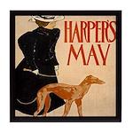Harpers Dog Vintage Tile Coaster