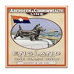 Scottie Sailing Dog Vintage Tile Coaster