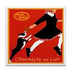 Chocolate au Lait Vintage Dog Tile Coaster