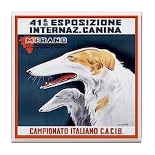 Italian Vintage Dog Tile Coaster