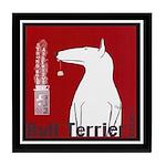 Bull Terrier Tea Vintage Dog Tile Coaster