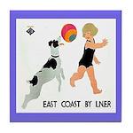 Summer Vintage Dog Tile Coaster