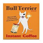 Bull Terrier Coffee Vintage Dog Tile Coaster