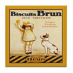 Biscuits Vintage Dog Tile Coaster