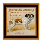 St Bernard Vintage Dog Tile Coaster