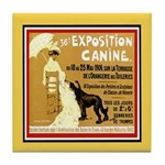 Paris Expo Vintage Dog Tile Coaster