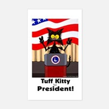 CAT FOR PRESIDENT - Rectangle Decal
