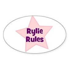Rylie Rules Oval Decal