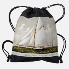 Sloop yacht Volunteer  - 1887 Drawstring Bag