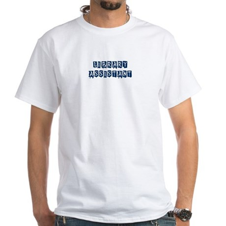 Library Assistant White T-Shirt