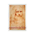 Leonardo da Vinci Rectangle Magnet (100 pack)