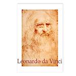 Leonardo da Vinci Postcards (Package of 8)
