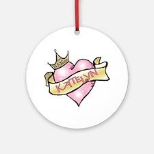 Sweetheart Katelyn Custom Princess Ornament (Round