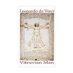 Vitruvian Man Rectangle Sticker