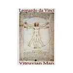 Vitruvian Man Rectangle Magnet