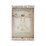 Vitruvian Man Rectangle Magnet (100 pack)