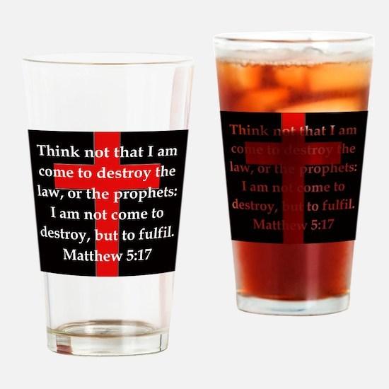 Matthew 5-17 Drinking Glass