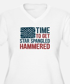 Time To Get Star Spangled Hammer Plus Size T-Shirt