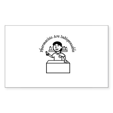Pharm indispensable Rectangle Sticker