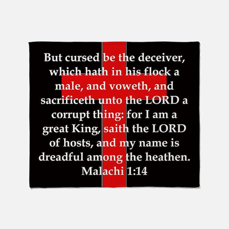 Malachi 1-14 Throw Blanket