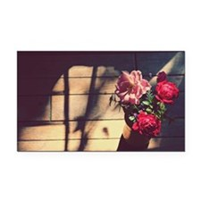Garden bouquet of red and pin Rectangle Car Magnet