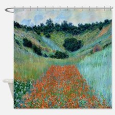 Claude Monet Poppy Field French Shower Curtain