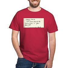 Baby Talk Will Haunt You t-shirt