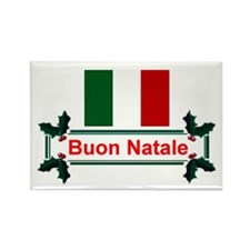 Italian Buon Natale Rectangle Magnet